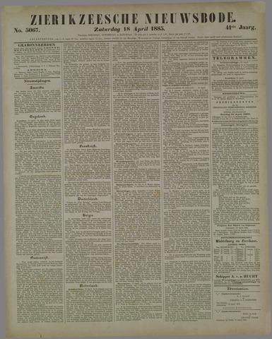 Zierikzeesche Nieuwsbode 1885-04-18