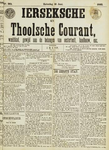 Ierseksche en Thoolsche Courant 1892-06-11