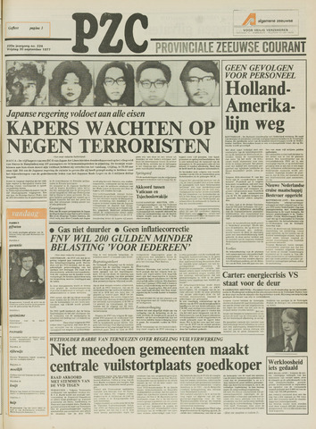 Provinciale Zeeuwse Courant 1977-09-30