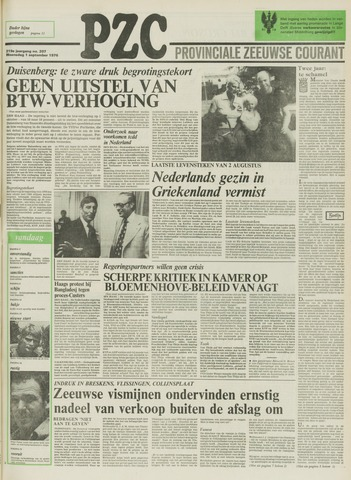 Provinciale Zeeuwse Courant 1976-09-01