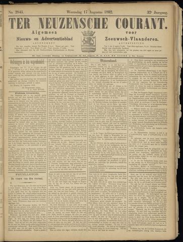 Ter Neuzensche Courant. Algemeen Nieuws- en Advertentieblad voor Zeeuwsch-Vlaanderen / Neuzensche Courant ... (idem) / (Algemeen) nieuws en advertentieblad voor Zeeuwsch-Vlaanderen 1892-08-17