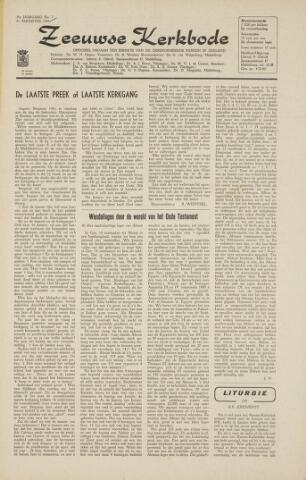 Zeeuwsche kerkbode, weekblad gewijd aan de belangen der gereformeerde kerken/ Zeeuwsch kerkblad 1964-08-21