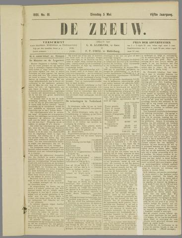 De Zeeuw. Christelijk-historisch nieuwsblad voor Zeeland 1891-05-05
