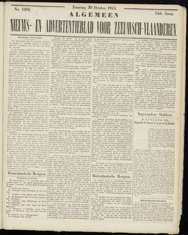 Ter Neuzensche Courant. Algemeen Nieuws- en Advertentieblad voor Zeeuwsch-Vlaanderen / Neuzensche Courant ... (idem) / (Algemeen) nieuws en advertentieblad voor Zeeuwsch-Vlaanderen 1875-10-30