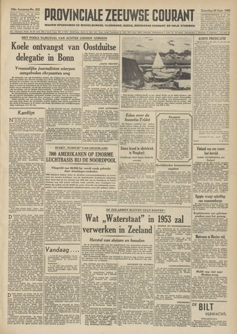 Provinciale Zeeuwse Courant 1952-09-20