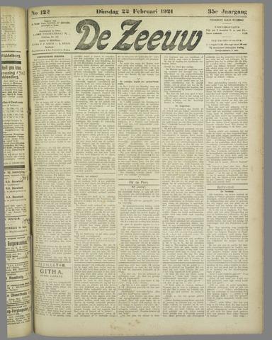 De Zeeuw. Christelijk-historisch nieuwsblad voor Zeeland 1921-02-22