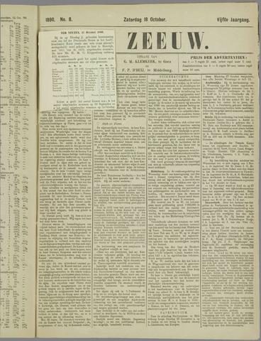 De Zeeuw. Christelijk-historisch nieuwsblad voor Zeeland 1890-10-18