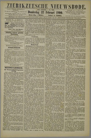 Zierikzeesche Nieuwsbode 1900-02-22