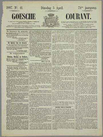 Goessche Courant 1887-04-05