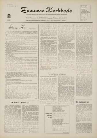 Zeeuwsche kerkbode, weekblad gewijd aan de belangen der gereformeerde kerken/ Zeeuwsch kerkblad 1970-07-16