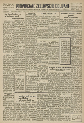 Provinciale Zeeuwse Courant 1946-03-09