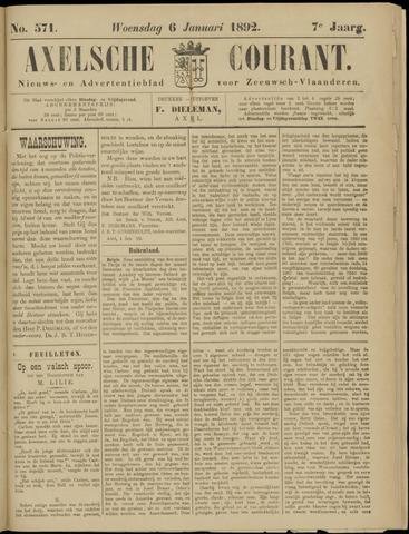 Axelsche Courant 1892-01-06