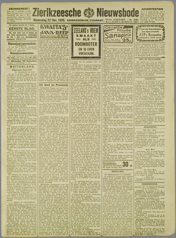 Zierikzeesche Nieuwsbode 1926-12-22
