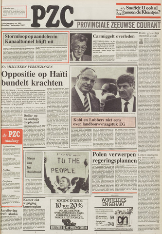 Provinciale Zeeuwse Courant 1987-12-01