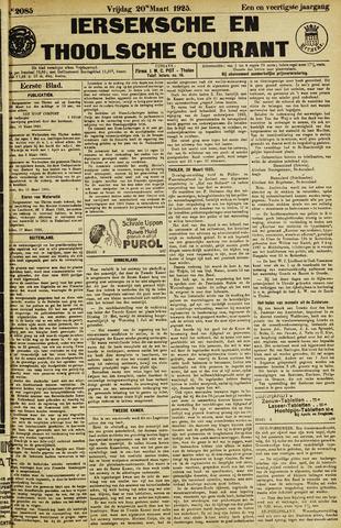 Ierseksche en Thoolsche Courant 1925-03-20