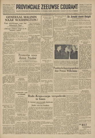 Provinciale Zeeuwse Courant 1949-04-19