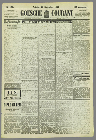 Goessche Courant 1929-11-22