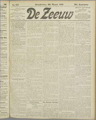 De Zeeuw. Christelijk-historisch nieuwsblad voor Zeeland 1917-03-29