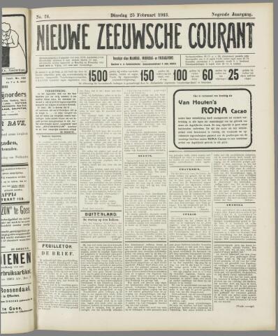 Nieuwe Zeeuwsche Courant 1913-02-25