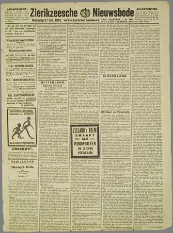 Zierikzeesche Nieuwsbode 1926-12-27