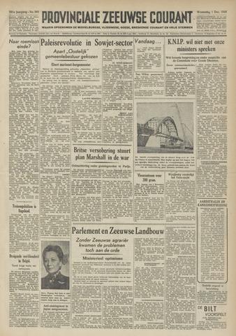 Provinciale Zeeuwse Courant 1948-12-01