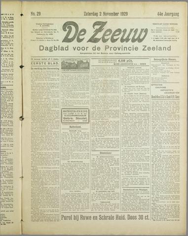 De Zeeuw. Christelijk-historisch nieuwsblad voor Zeeland 1929-11-02