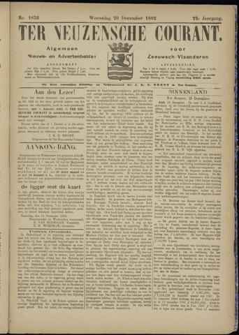Ter Neuzensche Courant. Algemeen Nieuws- en Advertentieblad voor Zeeuwsch-Vlaanderen / Neuzensche Courant ... (idem) / (Algemeen) nieuws en advertentieblad voor Zeeuwsch-Vlaanderen 1882-12-20