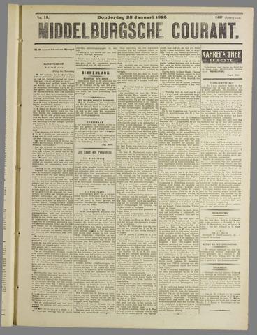 Middelburgsche Courant 1925-01-22