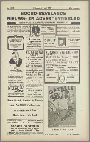 Noord-Bevelands Nieuws- en advertentieblad 1936-06-13