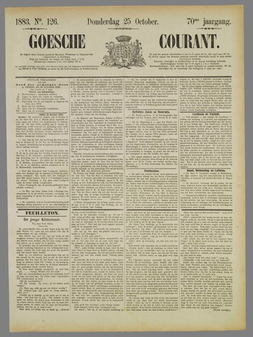 Goessche Courant 1883-10-25