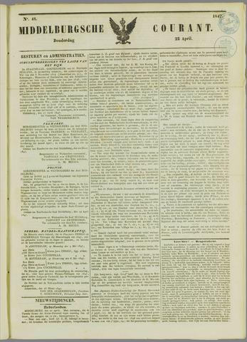 Middelburgsche Courant 1847-04-22
