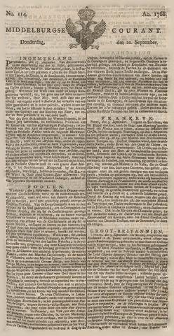 Middelburgsche Courant 1768-09-22