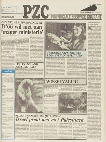 Provinciale Zeeuwse Courant 1981-07-22