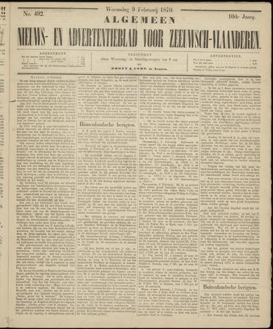 Ter Neuzensche Courant. Algemeen Nieuws- en Advertentieblad voor Zeeuwsch-Vlaanderen / Neuzensche Courant ... (idem) / (Algemeen) nieuws en advertentieblad voor Zeeuwsch-Vlaanderen 1870-02-09
