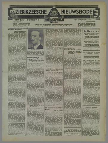 Zierikzeesche Nieuwsbode 1940-10-14