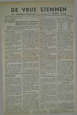 Vrije Stemmen van Schouwen-Duiveland, tevens mededeelingenblad Militair Gezag 1945-09-04