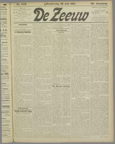 De Zeeuw. Christelijk-historisch nieuwsblad voor Zeeland 1917-07-19