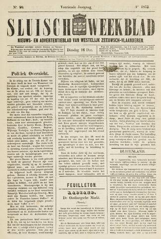 Sluisch Weekblad. Nieuws- en advertentieblad voor Westelijk Zeeuwsch-Vlaanderen 1873-12-16