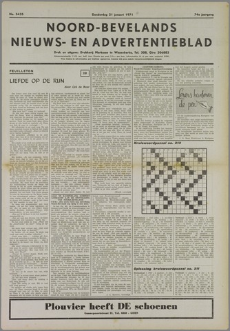 Noord-Bevelands Nieuws- en advertentieblad 1971-01-21