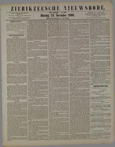 Zierikzeesche Nieuwsbode 1891-11-24