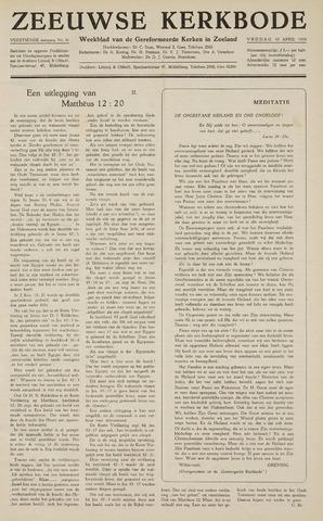 Zeeuwsche kerkbode, weekblad gewijd aan de belangen der gereformeerde kerken/ Zeeuwsch kerkblad 1959-04-10