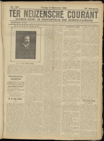 Ter Neuzensche Courant. Algemeen Nieuws- en Advertentieblad voor Zeeuwsch-Vlaanderen / Neuzensche Courant ... (idem) / (Algemeen) nieuws en advertentieblad voor Zeeuwsch-Vlaanderen 1924-09-12