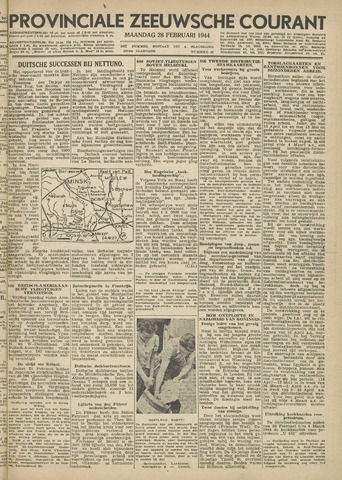 Provinciale Zeeuwse Courant 1944-02-28