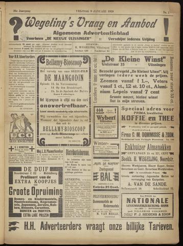 Zeeuwsch Nieuwsblad/Wegeling's Nieuwsblad 1920