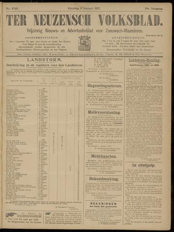 Ter Neuzensch Volksblad. Vrijzinnig nieuws- en advertentieblad voor Zeeuwsch- Vlaanderen / Zeeuwsch Nieuwsblad. Nieuws- en advertentieblad voor Zeeland 1917-01-06