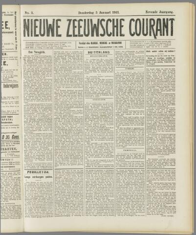 Nieuwe Zeeuwsche Courant 1911-01-05