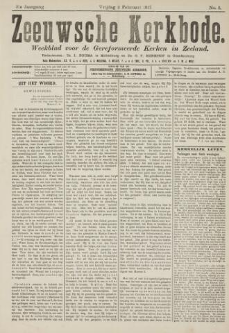 Zeeuwsche kerkbode, weekblad gewijd aan de belangen der gereformeerde kerken/ Zeeuwsch kerkblad 1917-02-02