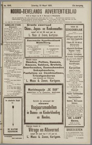 Noord-Bevelands Nieuws- en advertentieblad 1926-03-20
