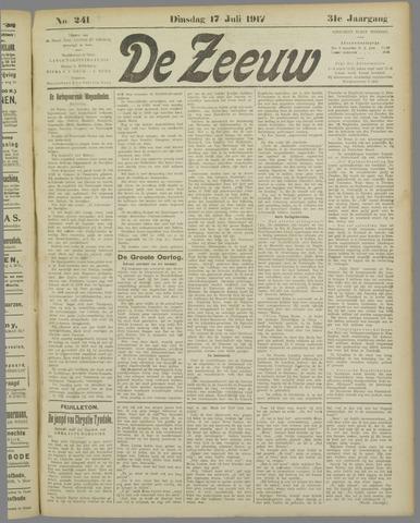 De Zeeuw. Christelijk-historisch nieuwsblad voor Zeeland 1917-07-17