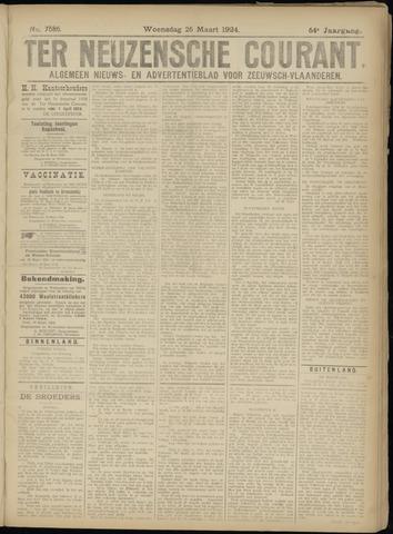 Ter Neuzensche Courant. Algemeen Nieuws- en Advertentieblad voor Zeeuwsch-Vlaanderen / Neuzensche Courant ... (idem) / (Algemeen) nieuws en advertentieblad voor Zeeuwsch-Vlaanderen 1924-03-26